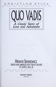 Cover of: Quo vadis | Henryk Sienkiewicz