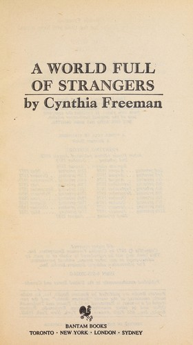World Full of Strangers by Cynthia Freeman