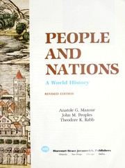 Cover of: People and nations