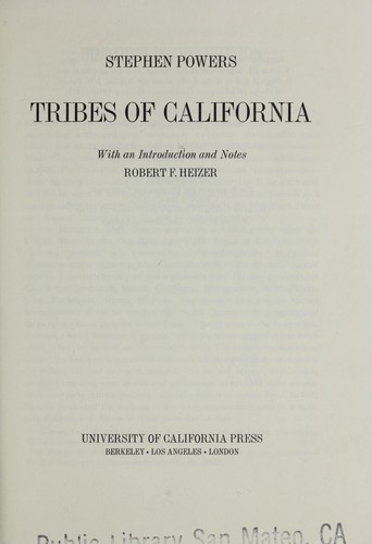 Tribes of California by Powers, Stephen
