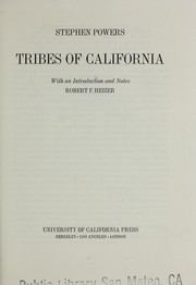 Cover of: Tribes of California | Powers, Stephen