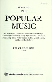 Cover of: Popular Music, 1989 | Bruce Pollock
