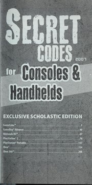 Cover of: Secret codes for consoles & handhelds 2007 |