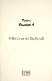 Cover of: Power puzzles 4 | Philip J. Carter