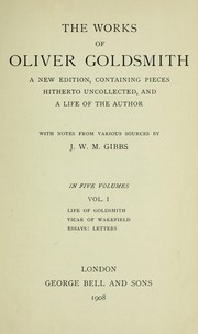 Cover of: The works of Oliver Goldsmith