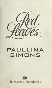 Cover of: Red leaves | Paullina Simons