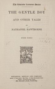 Cover of: The gentle boy and other tales