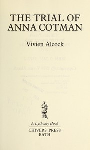 Cover of: The Trial of Anna Cotman