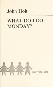 Cover of: What do I do Mondary?