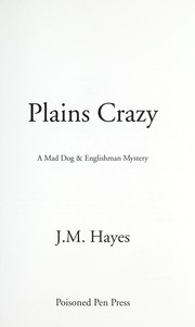 Cover of: Plains crazy | J. M. Hayes