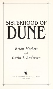 Cover of: Sisterhood of Dune