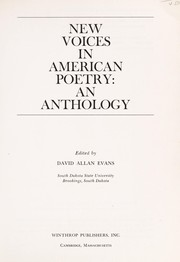 Cover of: New voices in American poetry | David Allan Evans