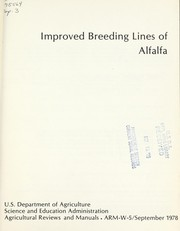 Cover of: Improved breeding lines of alfalfa. |
