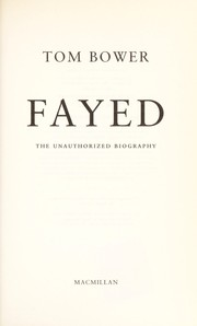 Cover of: Fayed | Tom Bower