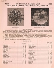 Cover of: 1925 wholesale dahlia list