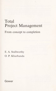 Cover of: Total project management
