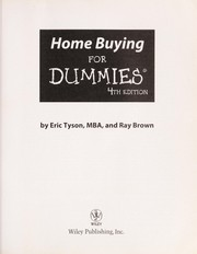 Cover of: Home buying for dummies