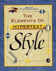 Cover of: The elements of hypertext style