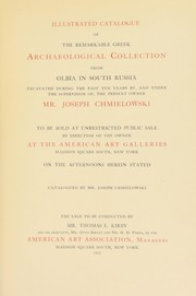 Cover of: Illustrated catalogue of the remarkable Greek Archaeological collection from Olbia in south Russia | American Art Association
