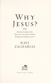 Cover of: Why Jesus?