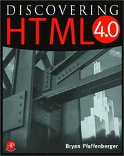 Cover of: Discovering HTML 4
