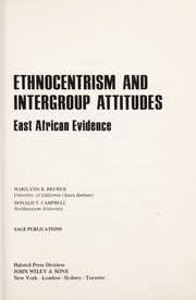 Cover of: Ethnocentrism and intergroup attitudes