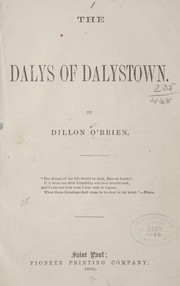Cover of: The Dalys of Dalystown | Dillon O