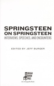 Cover of: Springsteen on Springsteen