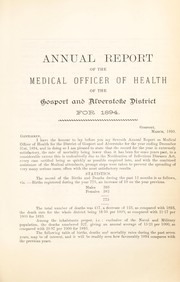 Cover of: [Report 1894] | Gosport and Alverstoke (England). District Council