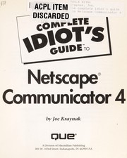 Cover of: The complete idiot's guide to Netscape Communicator 4