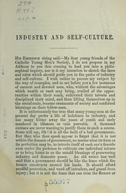 Cover of: Industry and self-culture