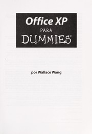 Cover of: Office XP for dummies