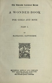 Cover of: A wonder-book for girls and boys