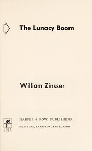 Cover of: The lunacy boom