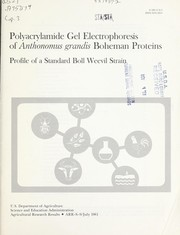 Cover of: Polyacrylamide gel electrophoresis of Anthonomus grandis Boheman proteins