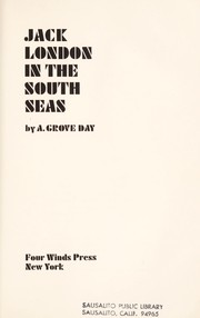 Cover of: Jack London in the South Seas