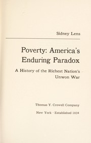 Cover of: Poverty: America's enduring paradox