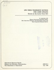 Cover of: 1979 virus tolerance ratings for corn strains grown in the lower corn belt |