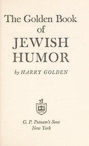 Cover of: The golden book of Jewish humor