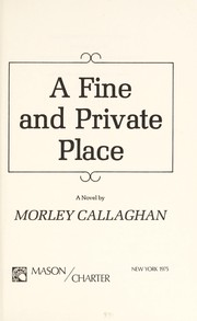 Cover of: A fine and private place : a novel |