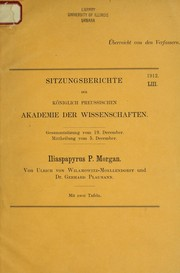 Cover of: Iliaspapyrus P. Morgan