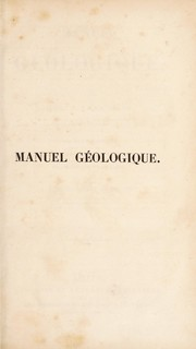 Cover of: Manuel g©♭ologique