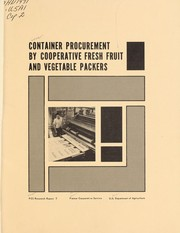 Cover of: Container procurement by cooperative fresh fruit and vegetable packers