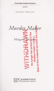 Cover of: Murder maker | Margaret Johnson
