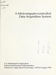 Cover of: A minicomputer-controlled data acquisition system