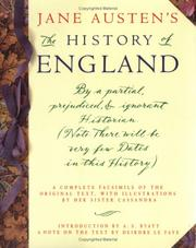 Cover of: The history of England | Jane Austen