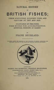 Cover of: Natural history of British fishes