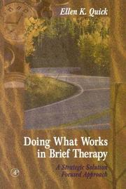 Cover of: Doing what works in brief therapy