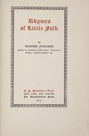 Cover of: Rhymes of little folk