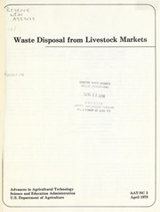Cover of: Waste disposal from livestock markets | Herman F. Mayes